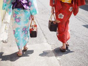着物で街歩き