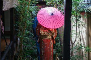 和傘とカップル着物レンタル